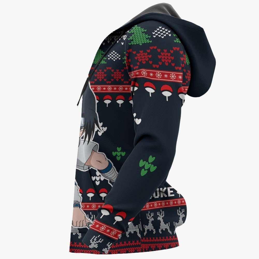 Uchiha Sasuke Christmas Sweater Custom Naruto Anime Xmas Gifts GO0110