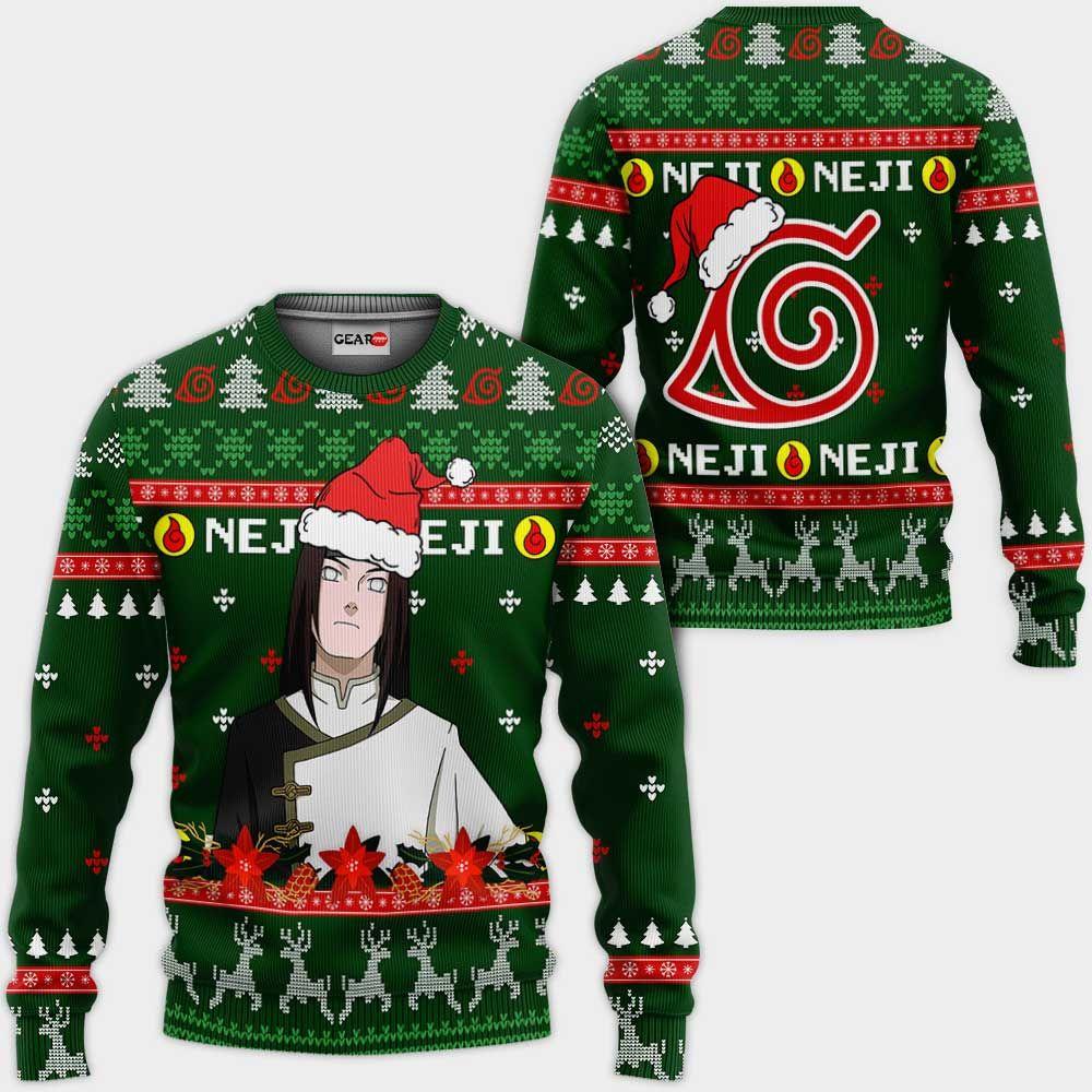 Neji Hyuga Ugly Christmas Sweater Custom Naruto Anime Xmas Gifts GO0110