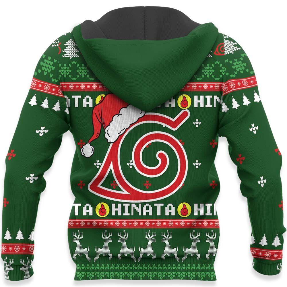 Hinata Hyuga Ugly Christmas Sweater Custom Naruto Anime Xmas Gifts GO0110