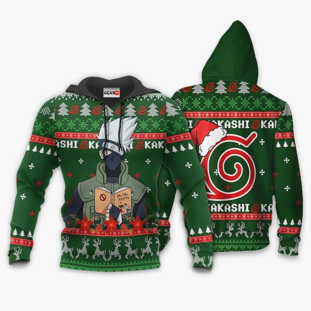 Kakashi Ugly Christmas Sweater Custom Naruto Anime Xmas Gifts GO0110