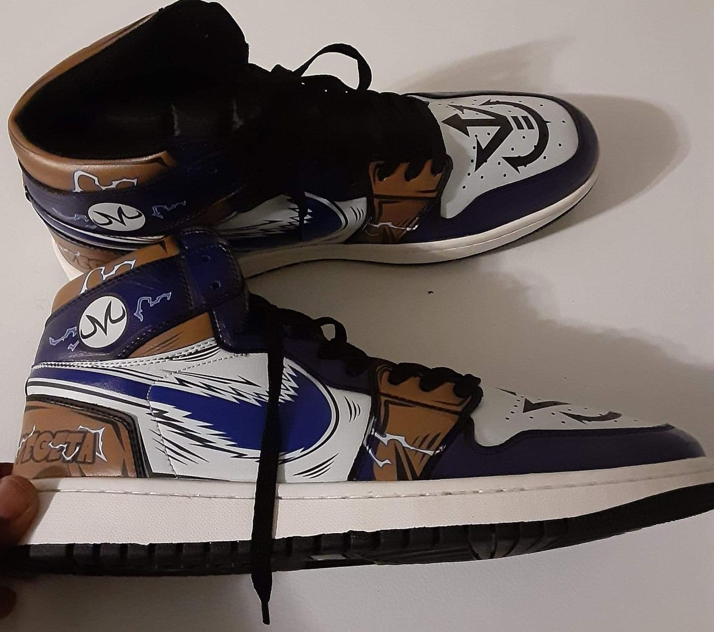 Vegeta Sneakers Custom Anime Dragon Ball Z Shoes GO1210