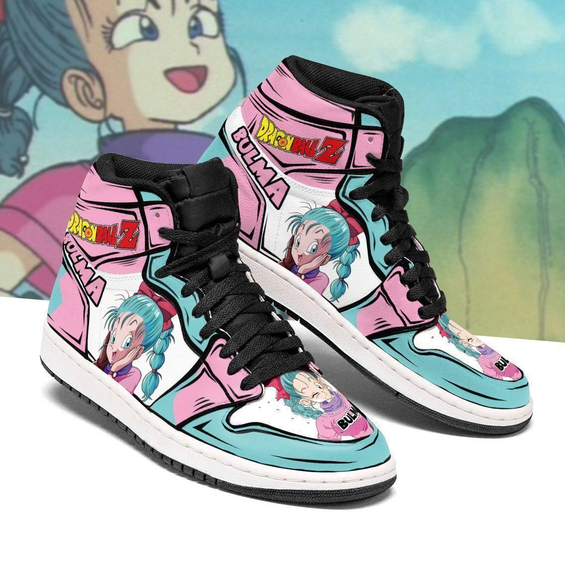 DBZ Bulma Sneakers Custom Anime Dragon Ball Z Shoes GO1210