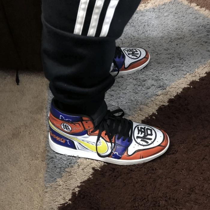 Goku Sneakers Custom Anime Dragon Ball Z Shoes GO1210