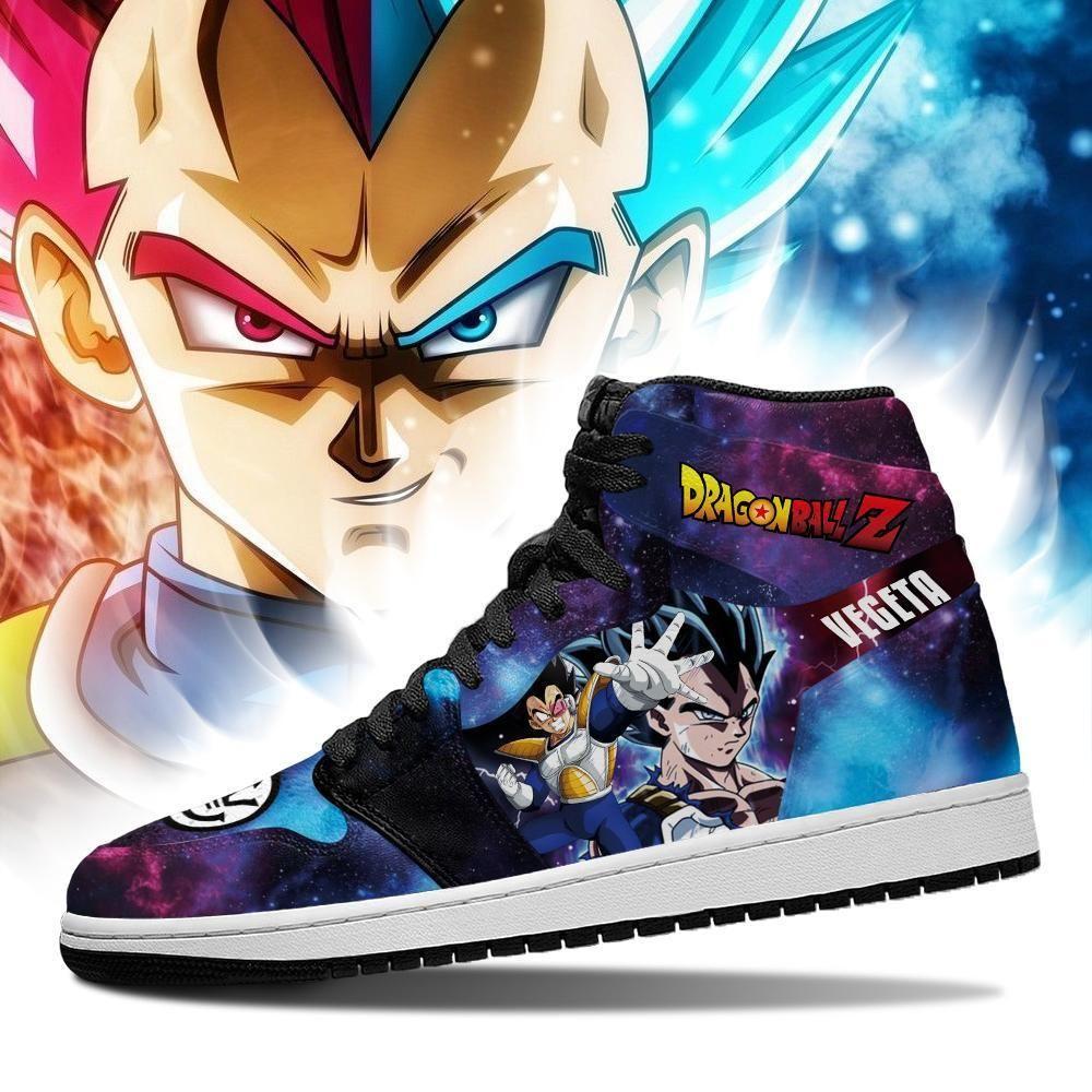Vegeta Sneakers Galaxy Custom Dragon Ball Z Anime Shoes GO1210