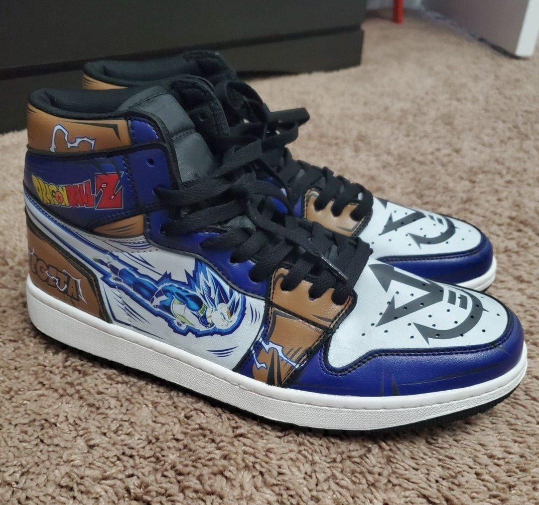 Vegeta Blue Sneakers Custom Anime Dragon Ball Z Shoes GO1210
