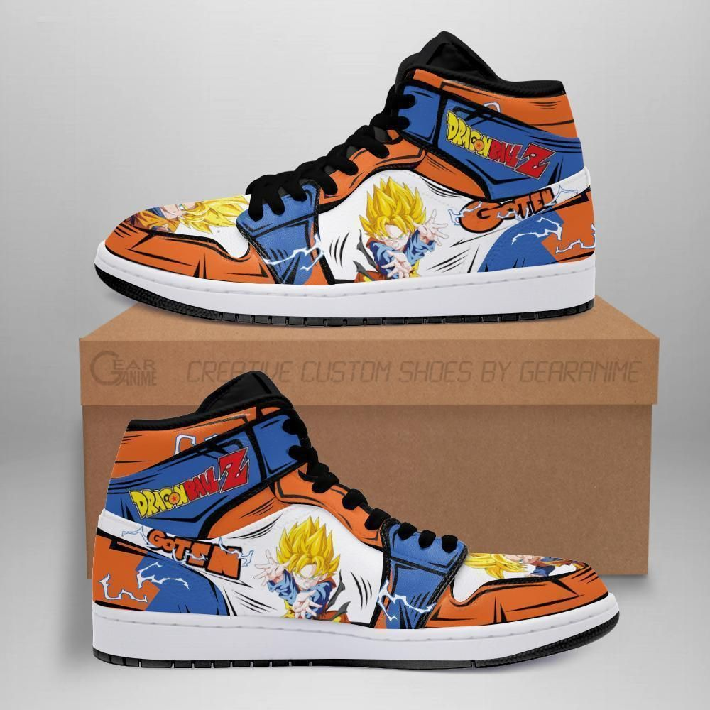 DBZ Goten Sneakers Custom Anime Dragon Ball Z Shoes GO1210