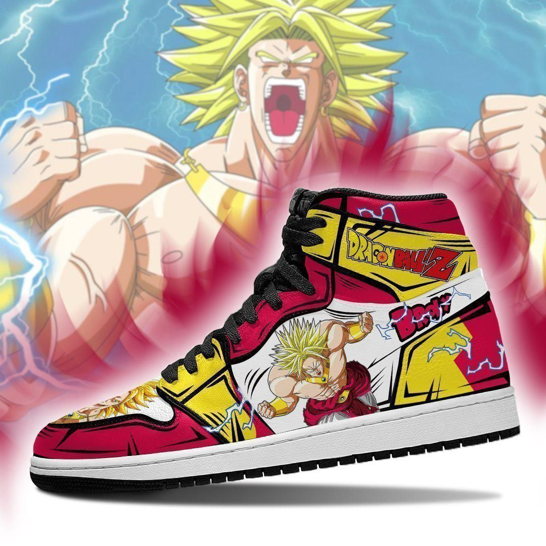 DBZ Super Broly Sneakers Custom Anime Dragon Ball Z Shoes GO1210