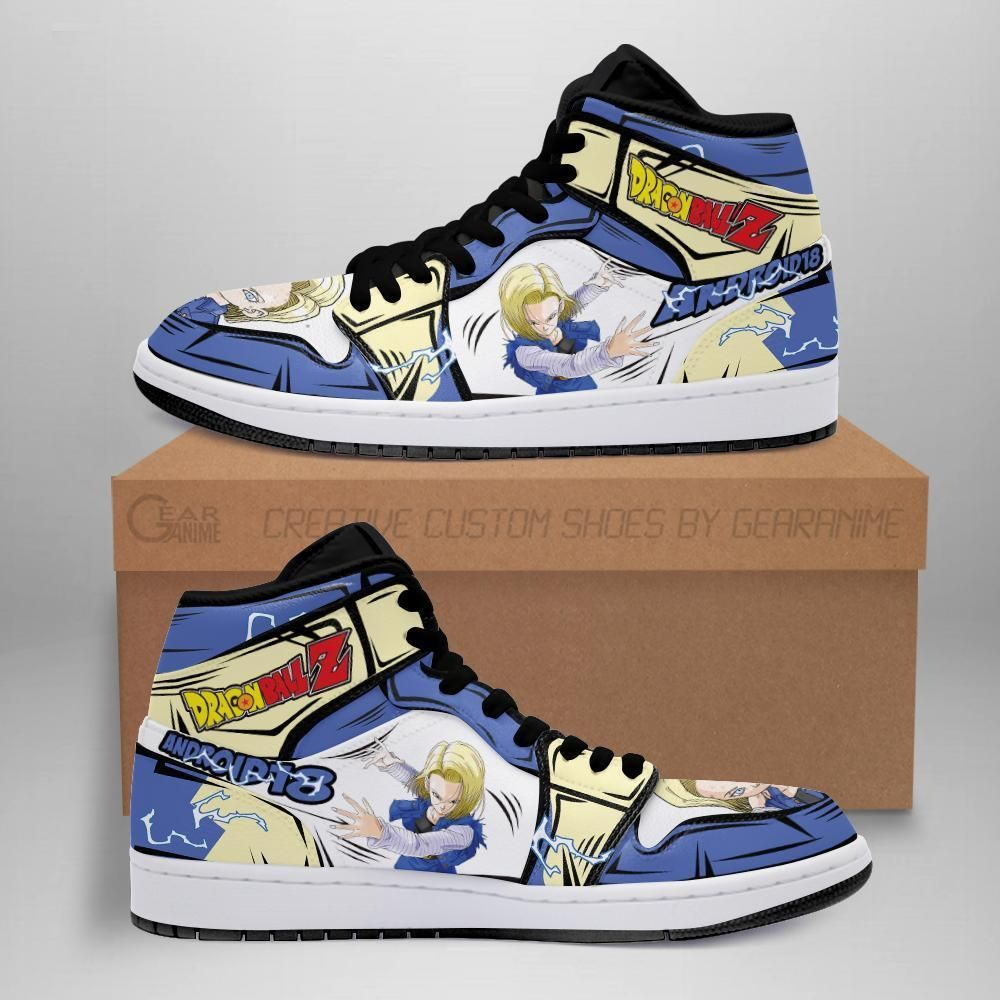 DBZ Android 18 Sneakers Custom Anime Dragon Ball Z Shoes GO1210