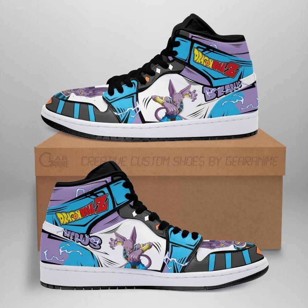 Dragon Ball Beerus Sneakers Custom Anime DBZ Shoes GO1210