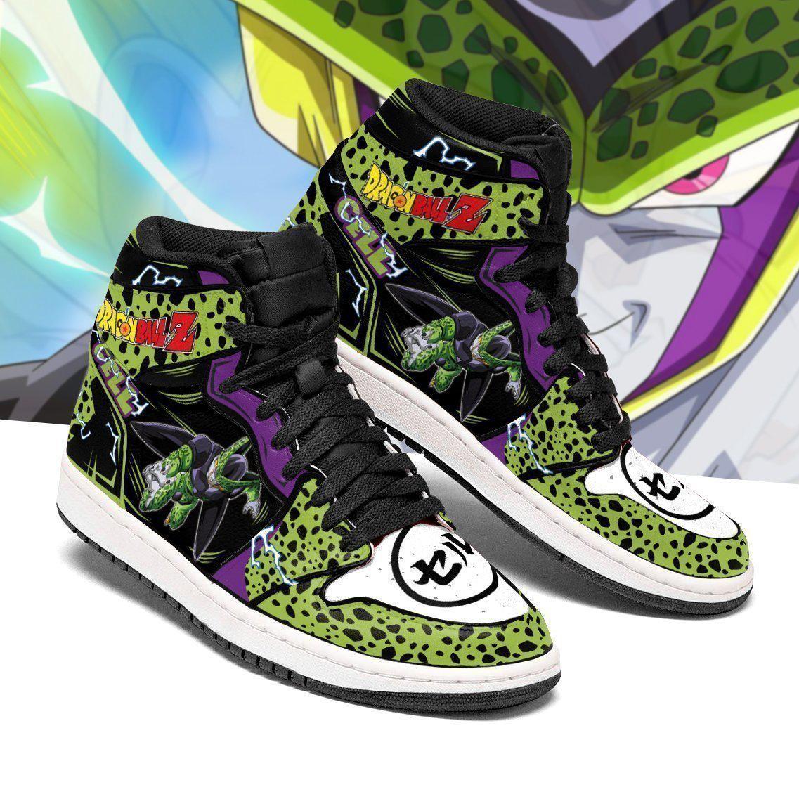 Dragon Ball Cell Sneakers Custom Anime DBZ Shoes Fan Gift Idea GO1210