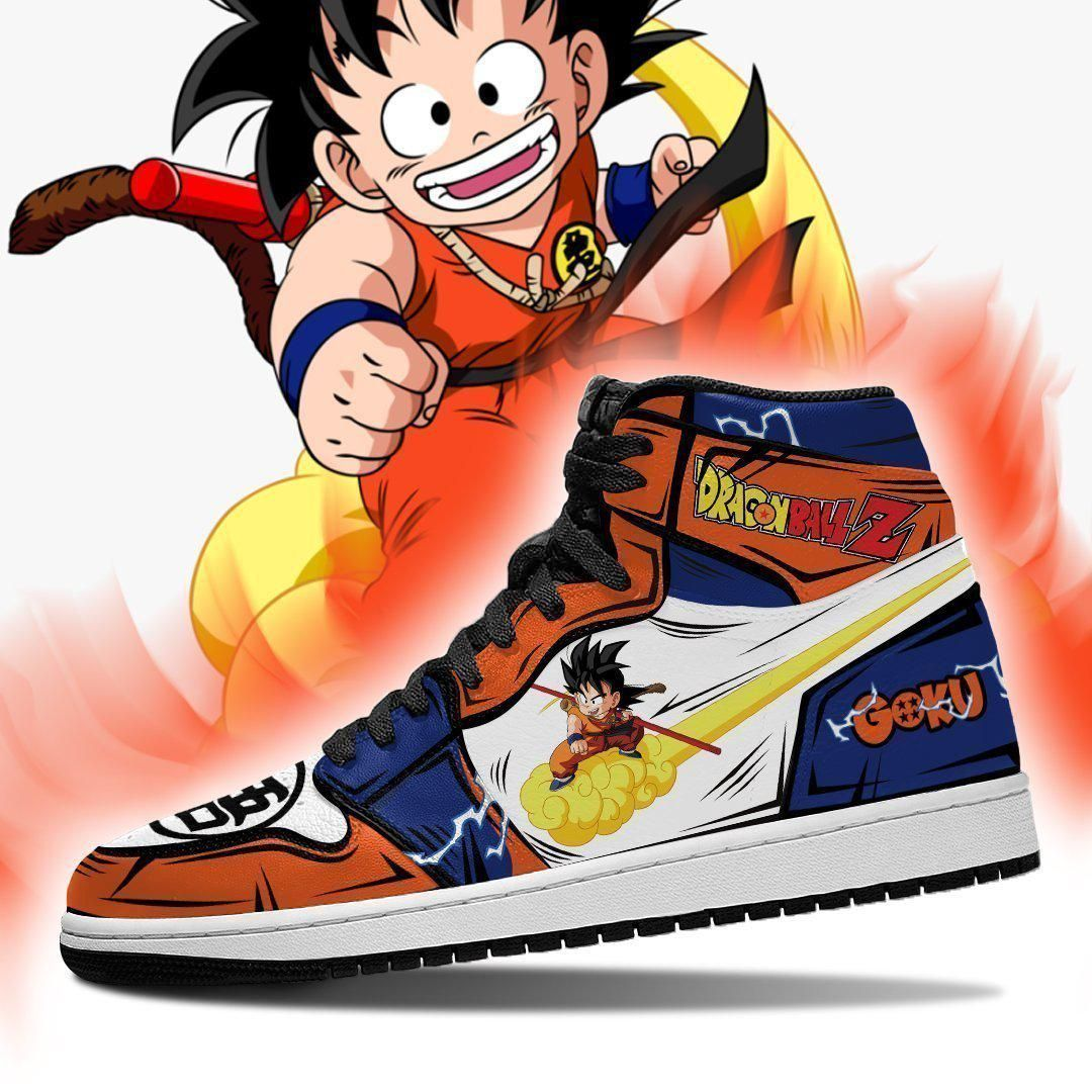 Kintoun Goku Sneakers Custom Flying Nimbus Anime Dragon Ball Z Shoes GO1210