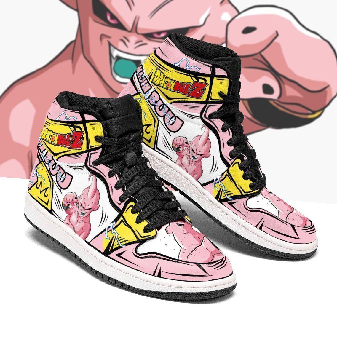 Skinny Majin Buu Sneakers Custom Anime Dragon Ball Z Shoes GO1210
