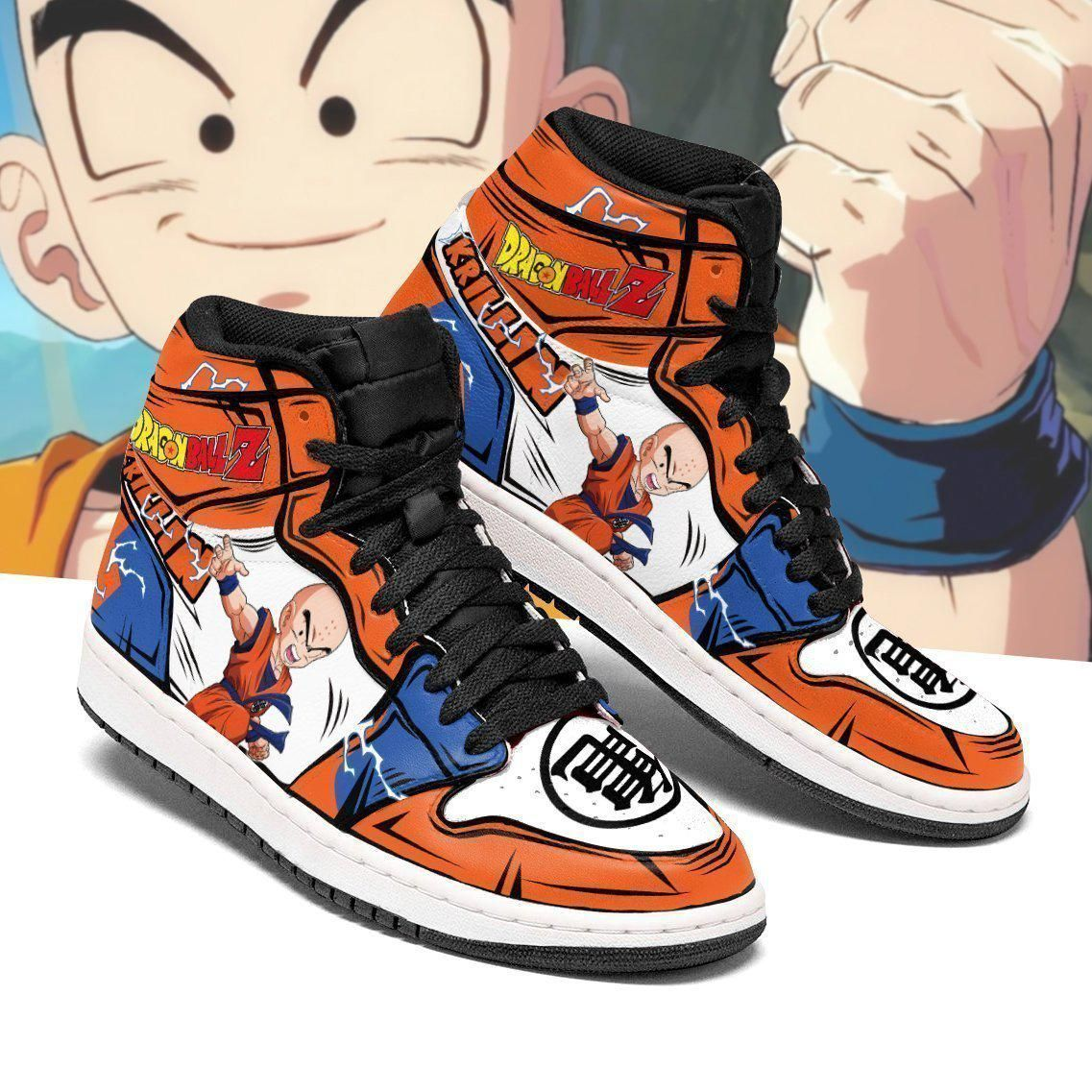 DBZ Krillin Sneakers Custom Anime Dragon Ball Z Shoes GO1210