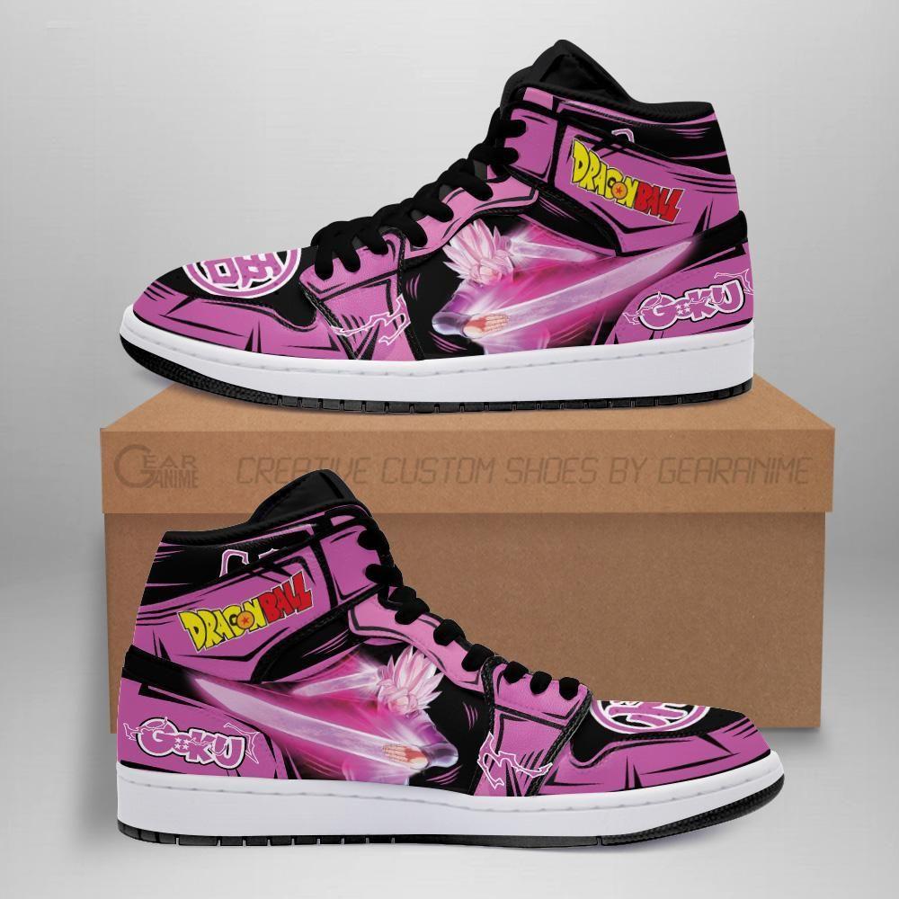 Goku Black Rose Sneakers Custom Dragon Ball Anime Shoes GO1210