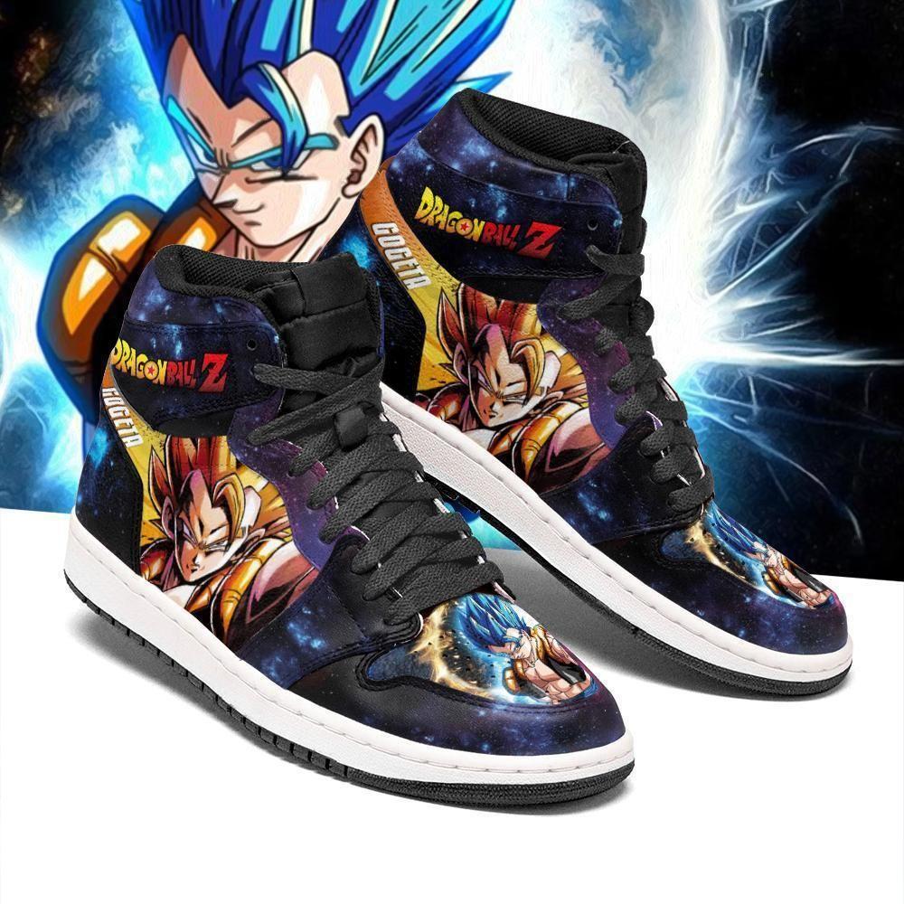 Gogeta Sneakers Galaxy Custom Dragon Ball Z Anime Shoes GO1210