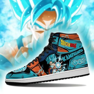 Goku Blue Sneakers Kamehameha Custom Anime Dragon Ball Shoes GO1210