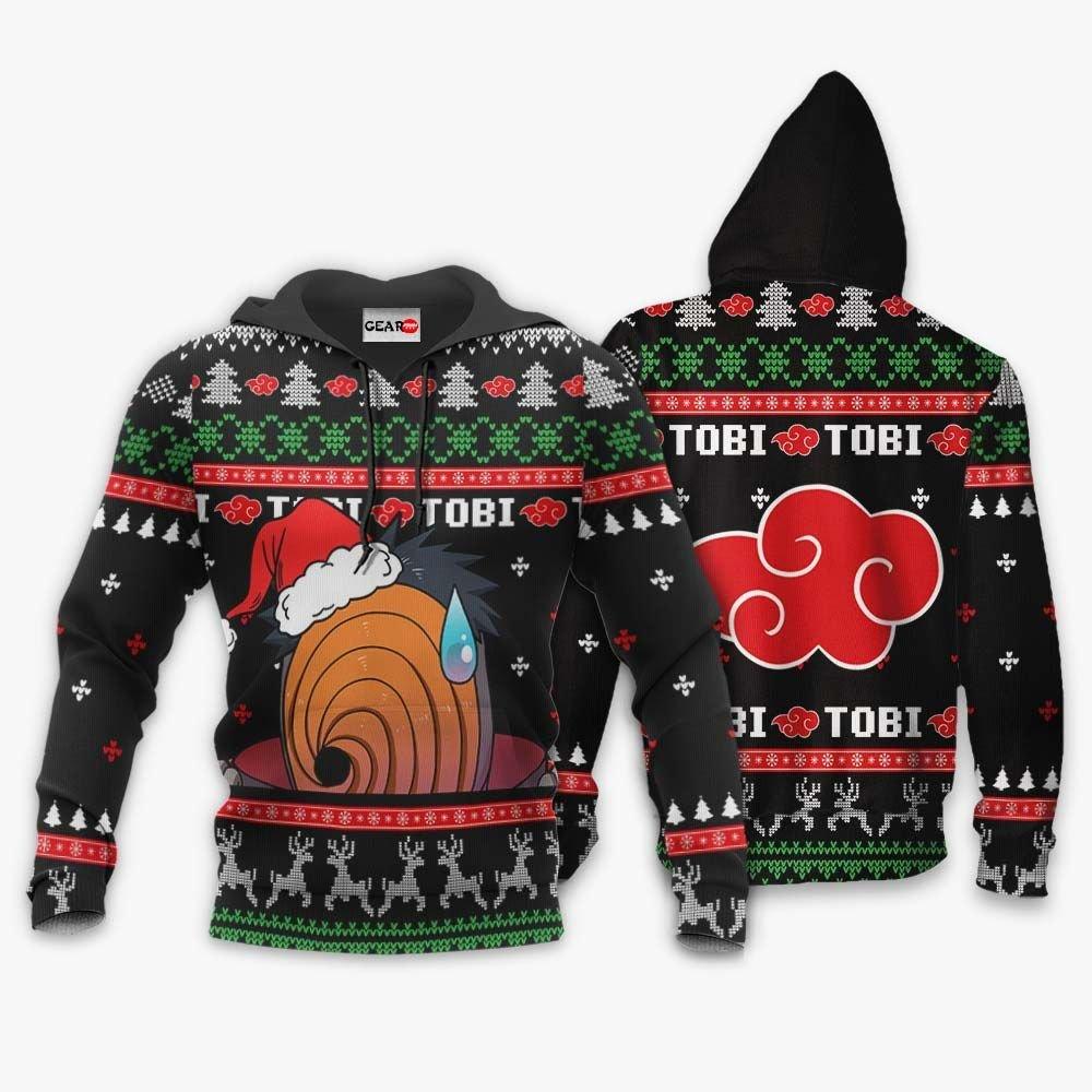 Akatsuki Tobi Ugly Christmas Sweater Custom Naruto Anime Xmas Gifts GO0110