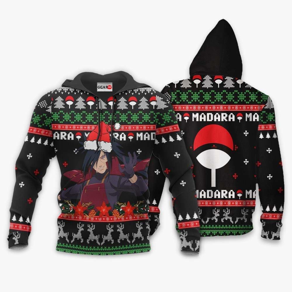 Uchiha Madara Ugly Christmas Sweater Custom Naruto Anime Xmas Gifts GO0110