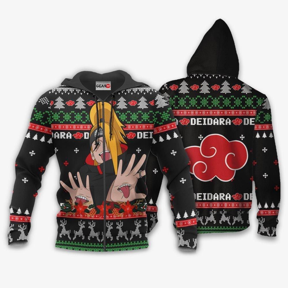 Akatsuki Deidara Ugly Christmas Sweater Custom Naruto Anime Xmas Gifts GO0110