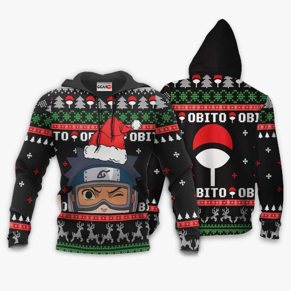 Uchiha Obito Ugly Christmas Sweater Custom Naruto Anime Xmas Gifts GO0110