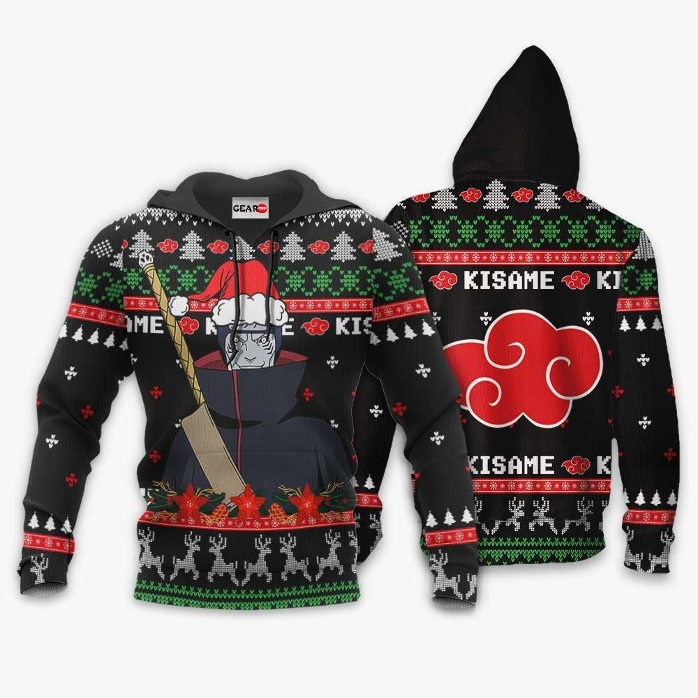 Akatsuki Kisame Ugly Christmas Sweater Custom Naruto Anime Xmas Gifts GO0110
