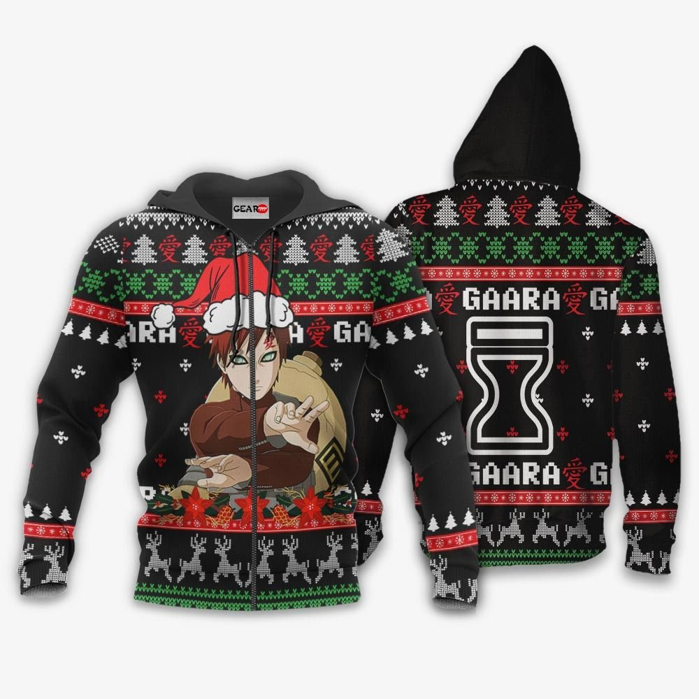 Gaara Ugly Christmas Sweater Custom Naruto Anime Xmas Gifts GO0110
