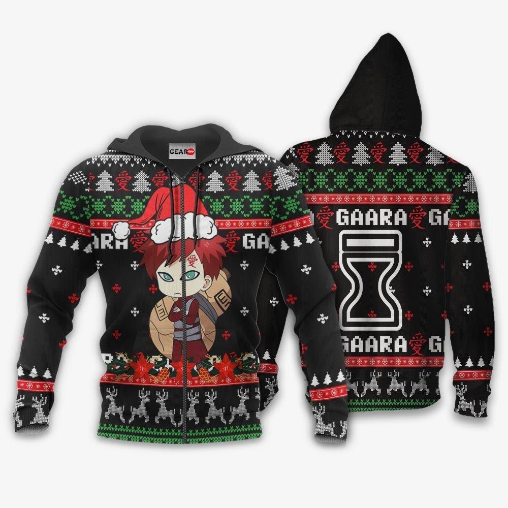 Cute Gaara Ugly Christmas Sweater Custom Naruto Anime Xmas Gifts GO0110