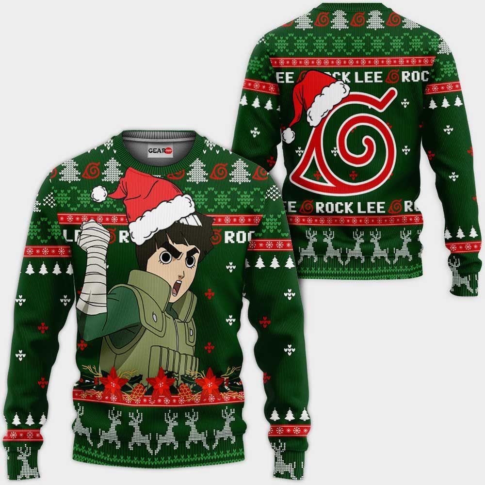 Rock Lee Ugly Christmas Sweater Custom Naruto Anime Xmas Gifts GO0110