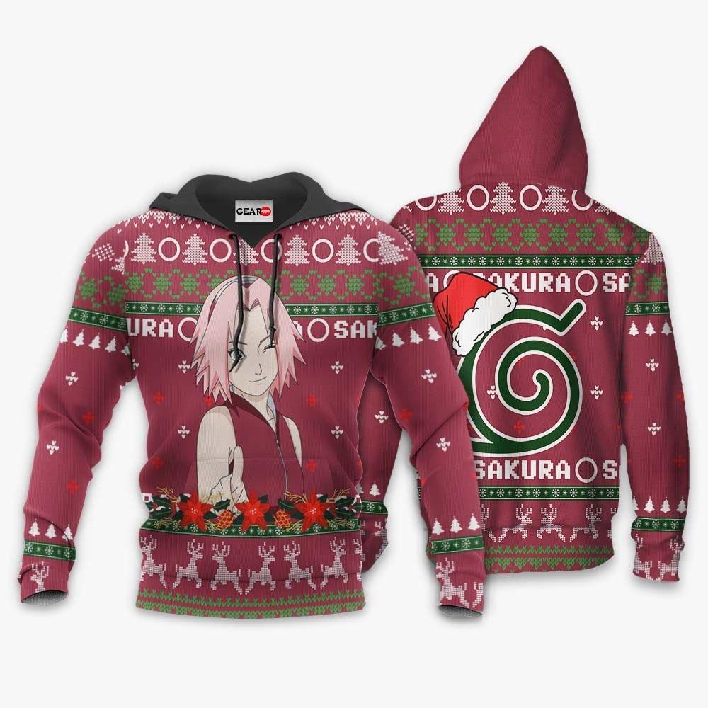 Haruno Sakura Ugly Christmas Sweater Custom Naruto Anime Xmas Gifts GO0110