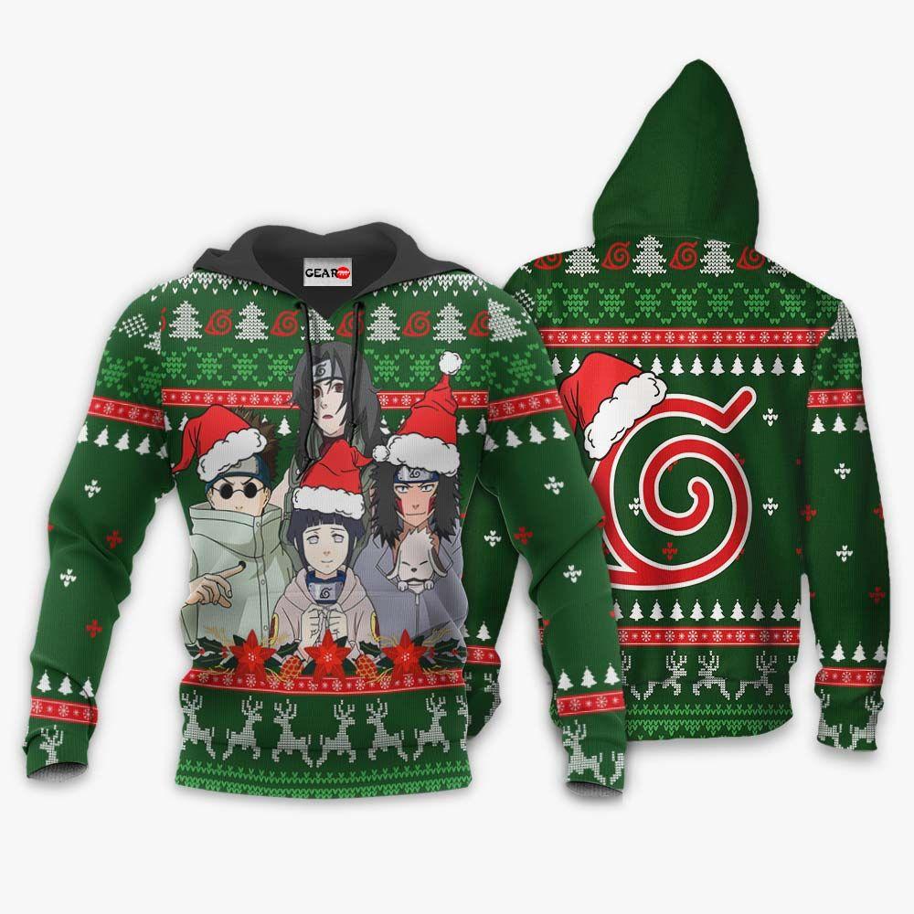 Konoha Team 8 Ugly Christmas Sweater Custom Naruto Anime Xmas Gifts GO0110