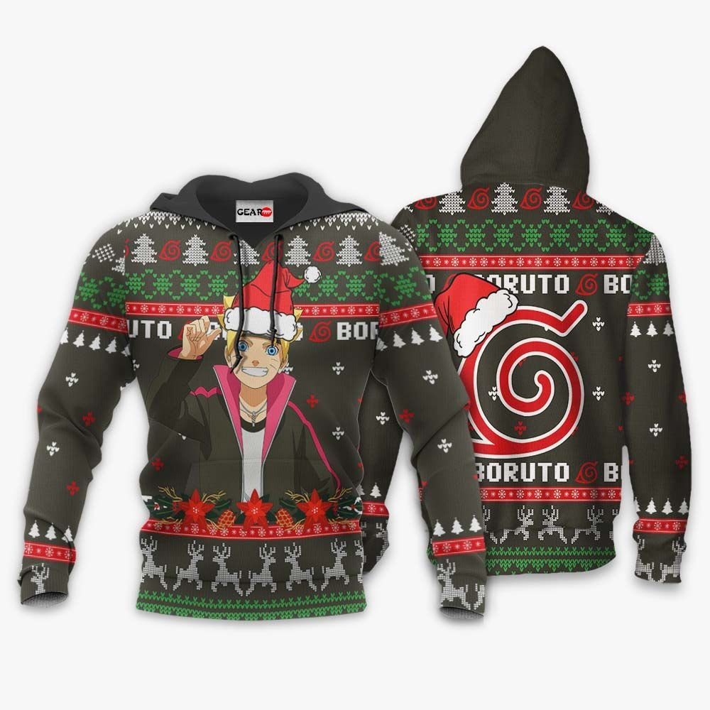 Uzumaki Boruto Ugly Christmas Sweater Custom Boruto Anime Xmas Gifts GO0110