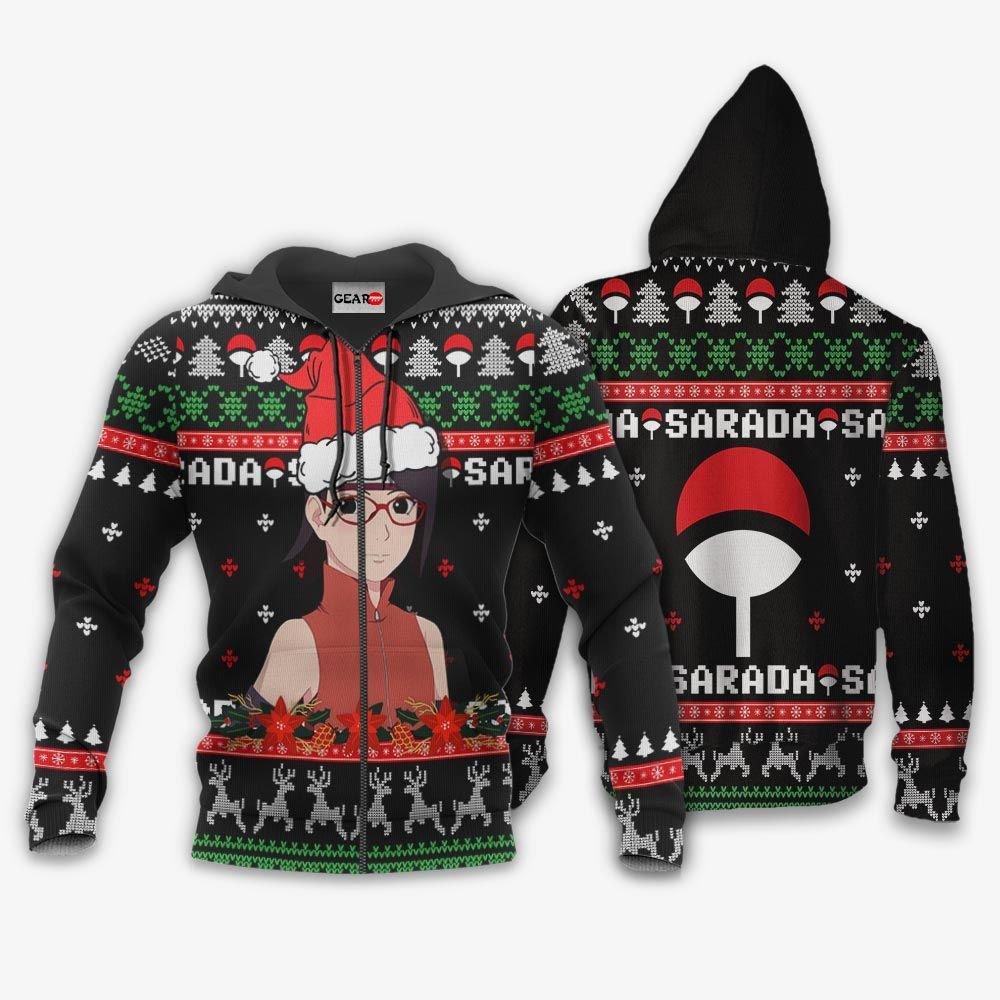 Sarada Uchiha Ugly Christmas Sweater Custom Boruto Anime Xmas Gifts GO0110
