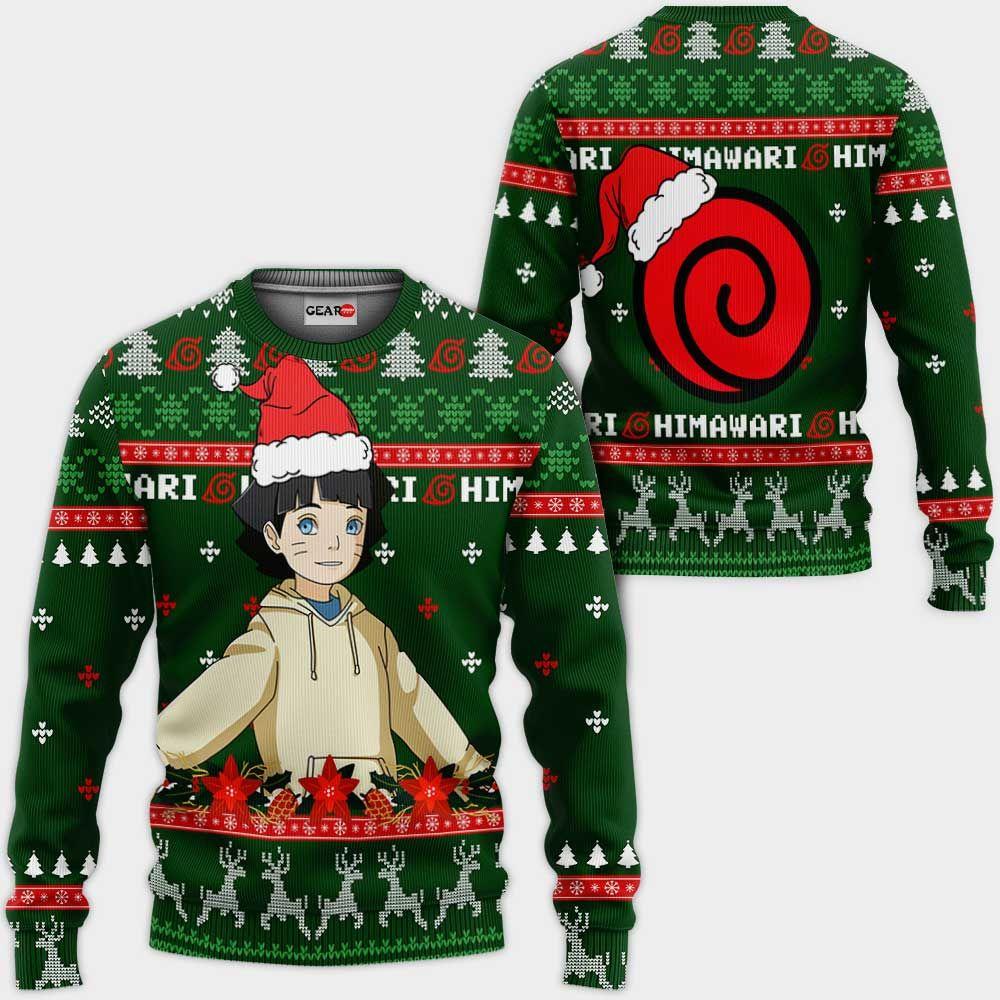 Uzumaki Himawari Ugly Christmas Sweater Custom Boruto Anime Xmas Gifts GO0110