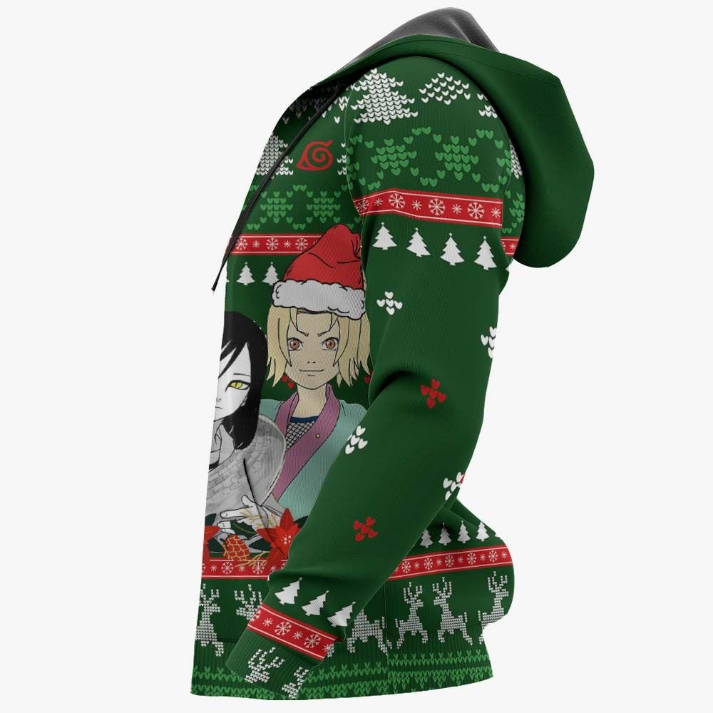 Konoha Team Sannin Ugly Christmas Sweater Custom Naruto Anime Xmas Gifts GO0110