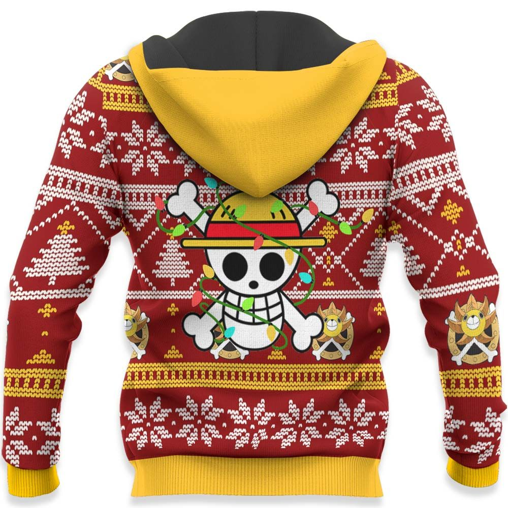 Funny Luffy Ugly Christmas Sweater Custom One Piece Anime Xmas Gifts GO0110