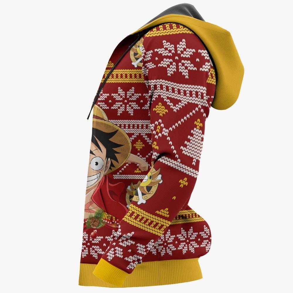 Monkey Luffy Ugly Christmas Sweater Custom One Piece Anime Xmas Gifts GO0110
