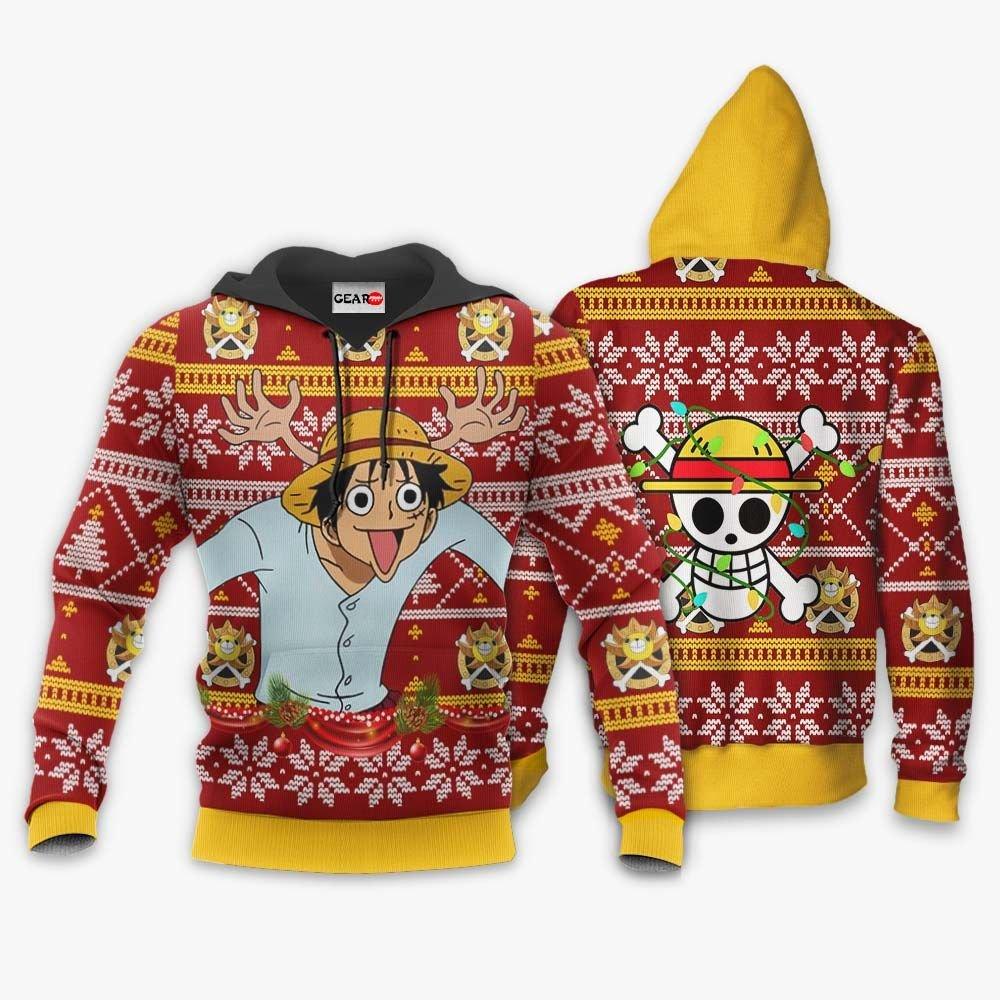 Reindeer Luffy Ugly Christmas Sweater Custom One Piece Anime Xmas Gifts GO0110