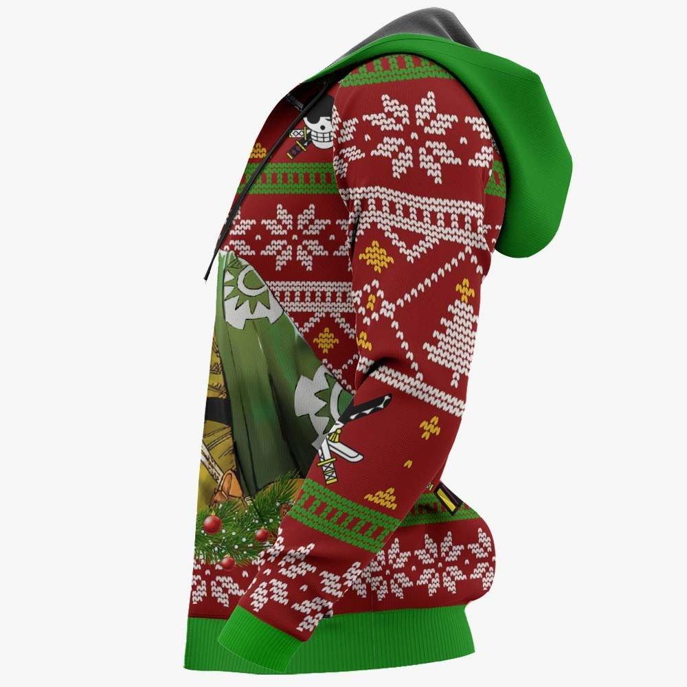 Zoro Ugly Christmas Sweater Custom Wano One Piece Anime Xmas Gifts GO0110