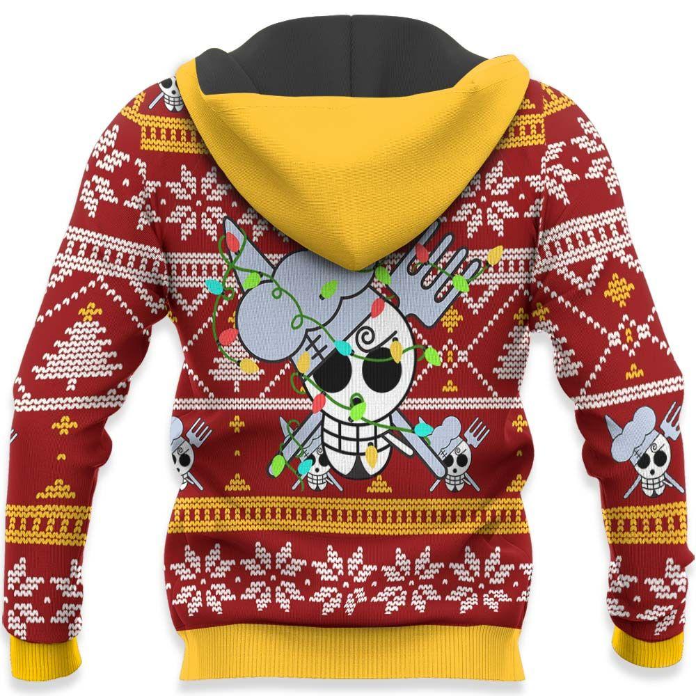 Sanji Ugly Christmas Sweater Custom One Piece Anime Xmas Gifts GO0110
