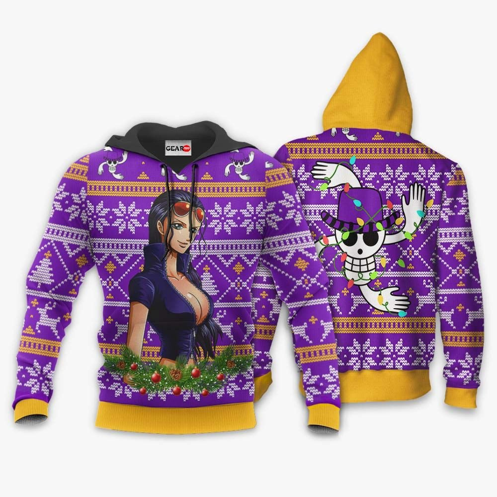 Nico Robin Ugly Christmas Sweater Custom One Piece Anime Xmas Gifts GO0110