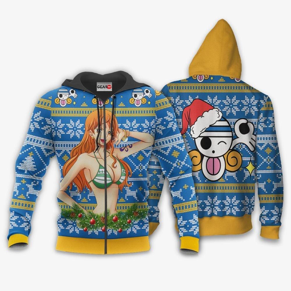 Nami Ugly Christmas Sweater Custom One Piece Anime Xmas Gifts GO0110