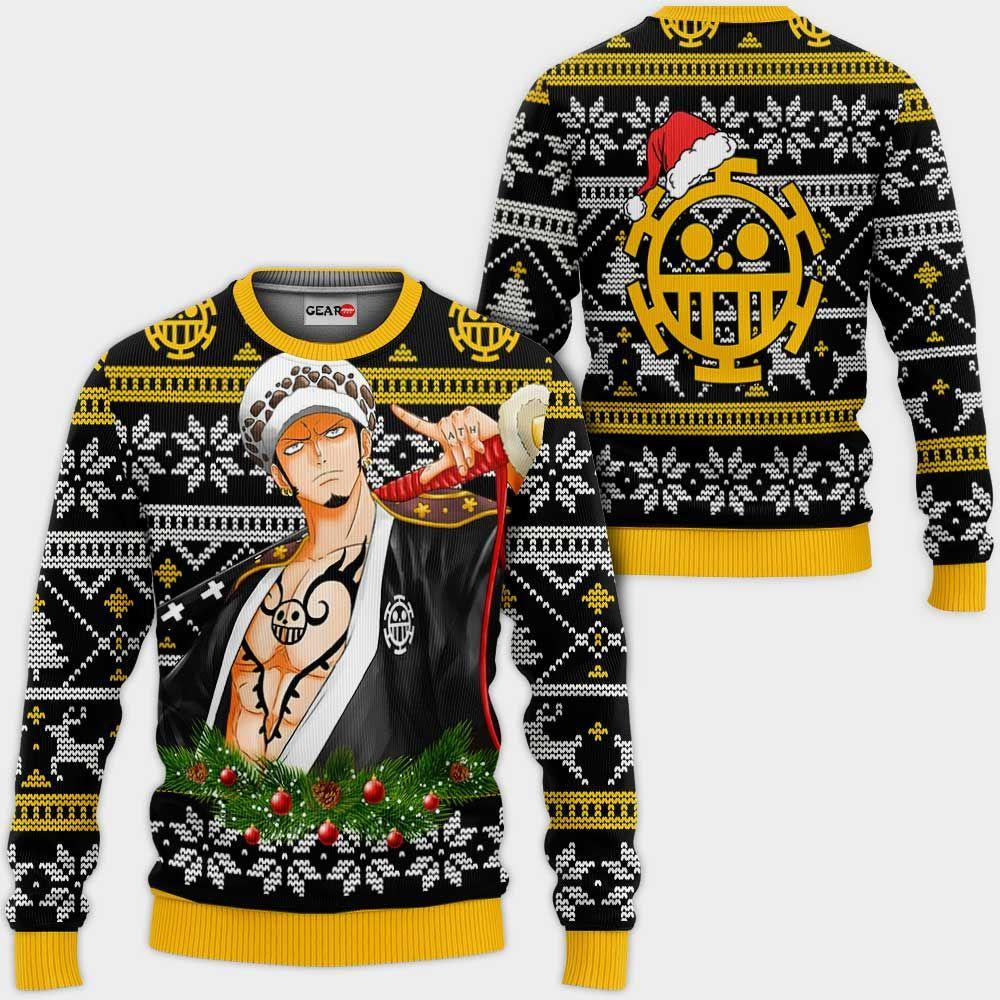 Trafalgar Law Ugly Christmas Sweater Custom Wano One Piece Anime Xmas Gifts GO0110