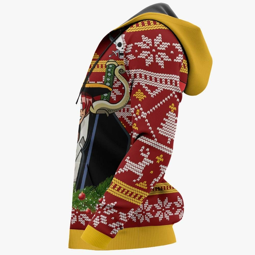 Red Hair Shanks Ugly Christmas Sweater Custom One Piece Anime Xmas Gifts GO0110