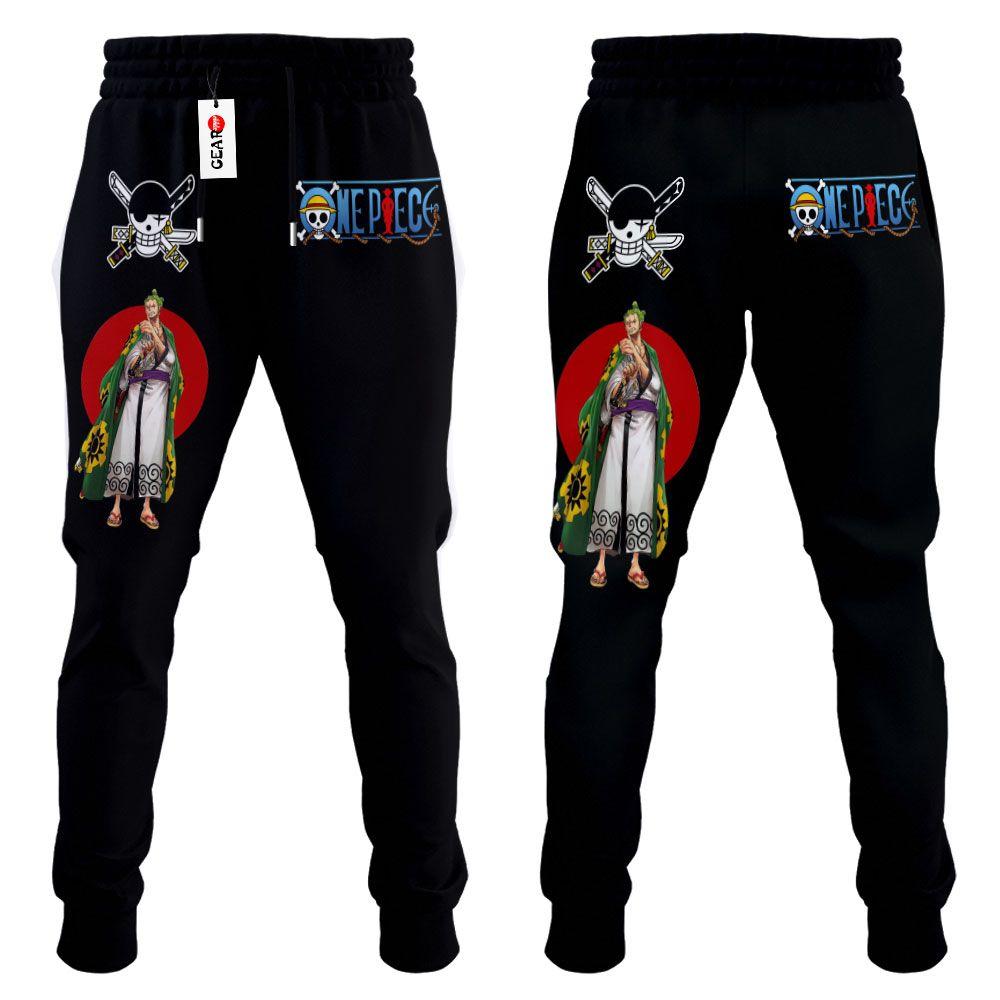 Zoro Wano Joggers Custom Anime One Piece Sweatpants G01210