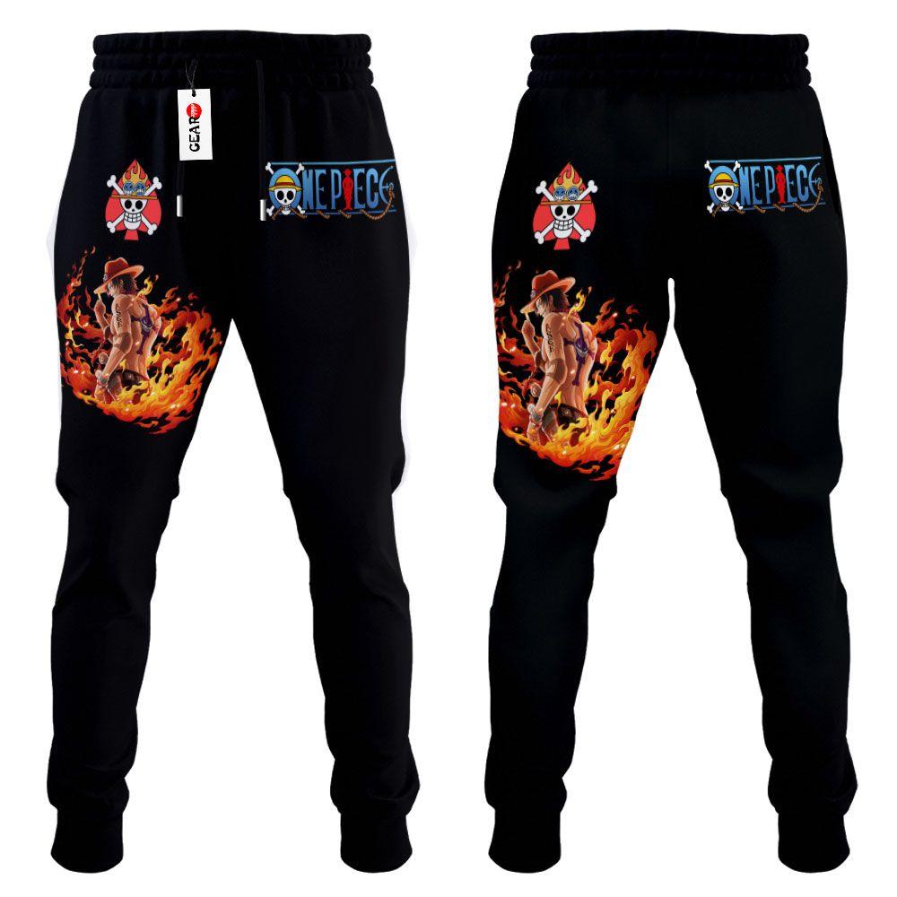 Portgas D Ace Joggers Custom Anime One Piece Sweatpants G01210