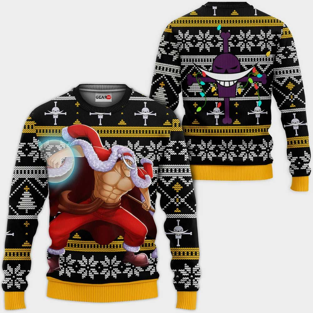 Whitebeard Ugly Christmas Sweater Custom One Piece Anime Xmas Gifts GO0110