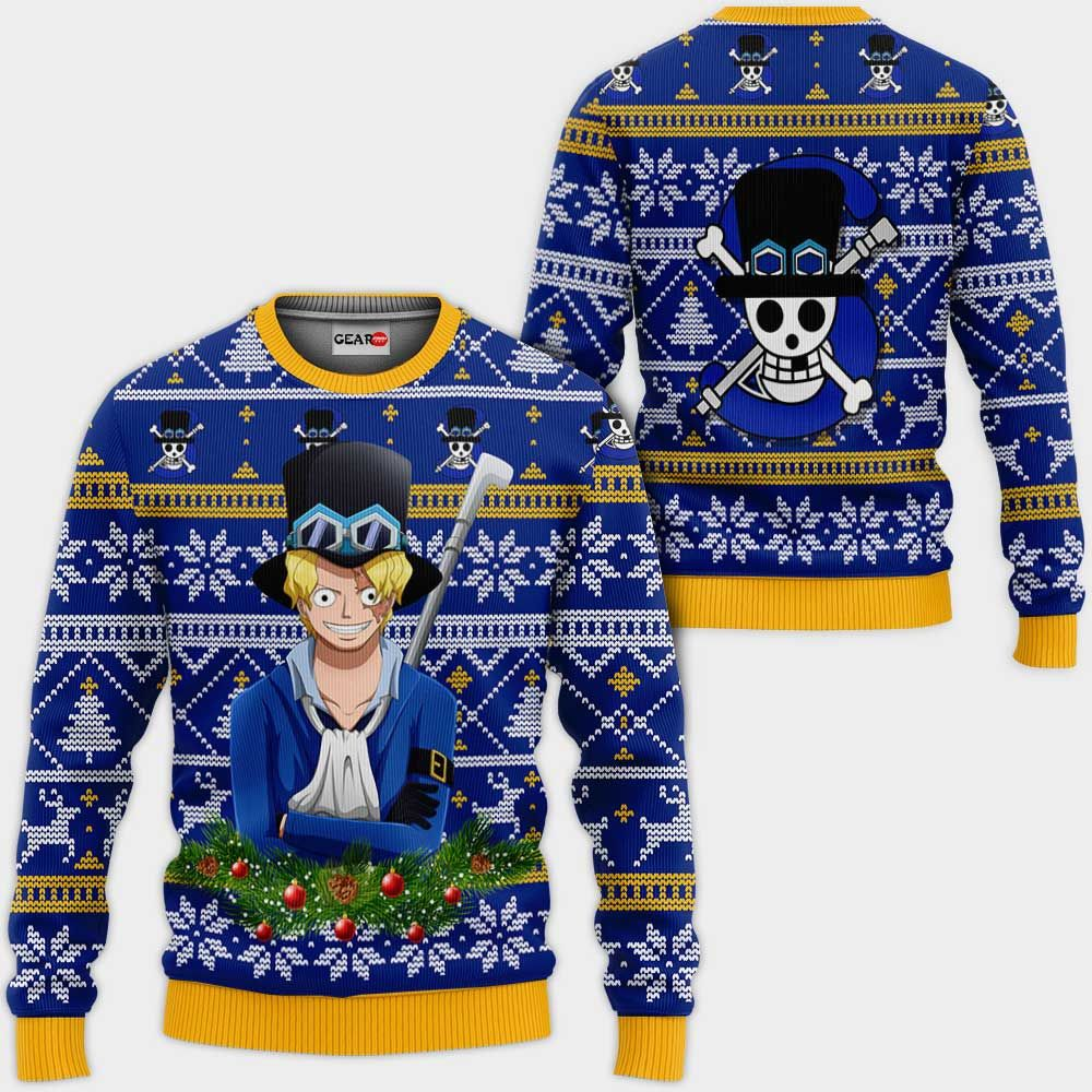 Sabo Ugly Christmas Sweater Custom One Piece Anime Xmas Gifts GO0110