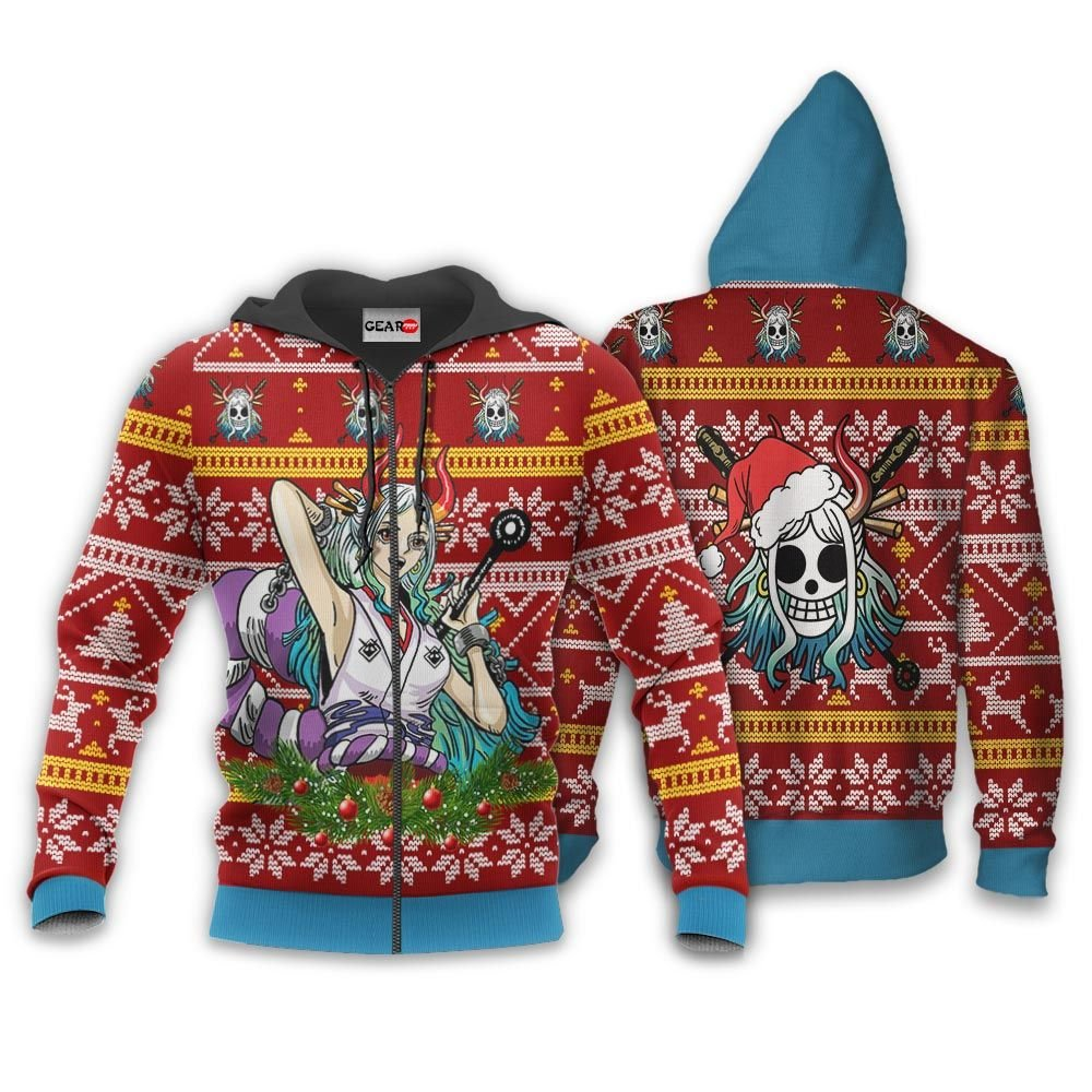 Yamato Ugly Christmas Sweater Custom One Piece Anime Xmas Gifts GO0110