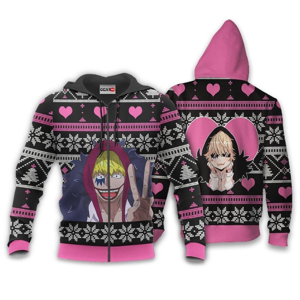 Donquixote Rosinante Ugly Christmas Sweater Custom One Piece Anime Xmas Gifts GO0110