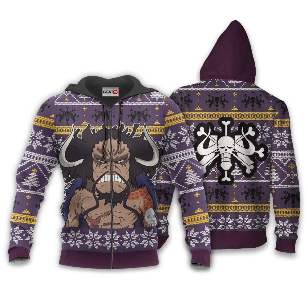 Yonko Kaido Ugly Christmas Sweater Custom One Piece Anime Xmas Gifts GO0110